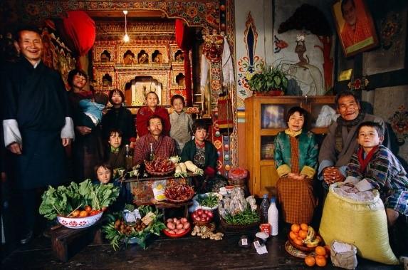 Jeden stravovací týden pro bhútánskou rodinu